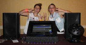 These young ladies know how cool George, the Virtual DJ is!